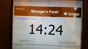 Advent XT Managers Touchscreen Admin Display Panel